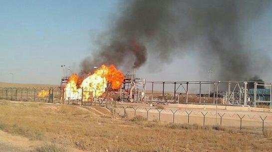 IS phá hủy mỏ khí gas nhằm đối phóng với quân đội Syria (Video)
