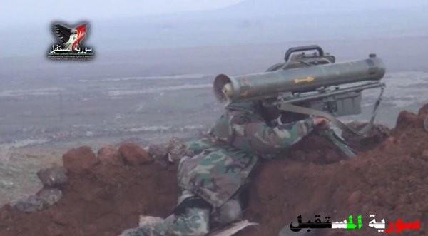 Video: Các binh sĩ Syria lại dùng ATGM săn chiến binh Hồi giáo cực đoan