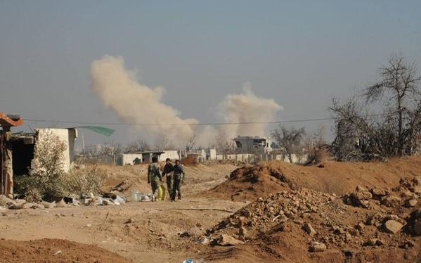 Quân đội Syria tiêu diệt một đoàn xe IS trên miền bắc Sweida