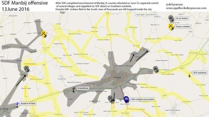 IS đánh chiếm lại một số địa bàn của SDF ở thành phố Manbij