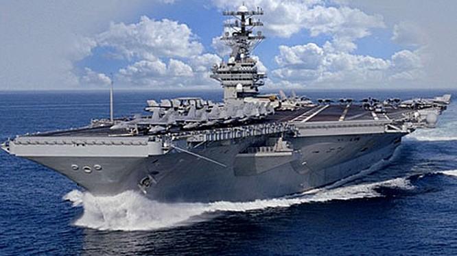 Tàu sân bay USS-Ronald-Reagan trên biển Nhật Bản