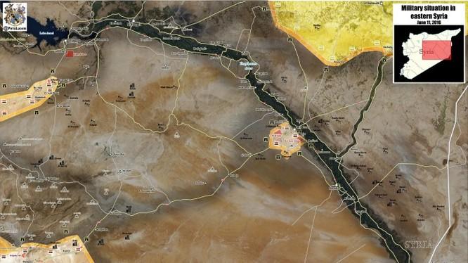 Mản đồ tỉnh Raqqa đến ngày 16.06.2016