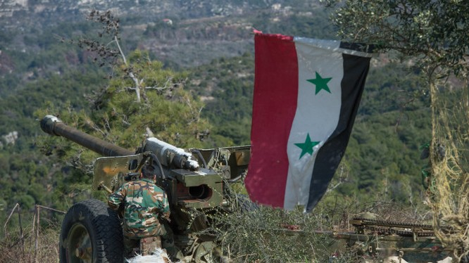 Pháo binh quân đội Syria