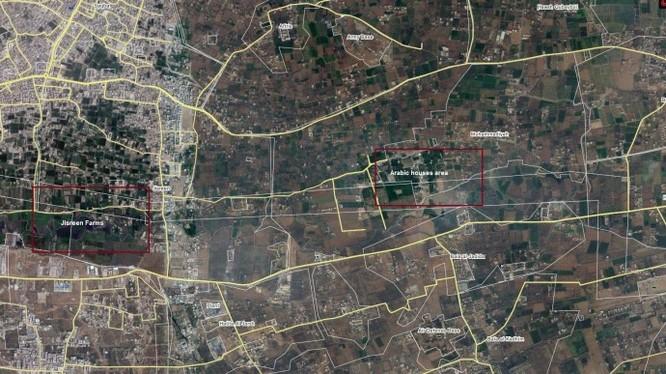 Bản đồ vùng Đông Ghouta, Damascus