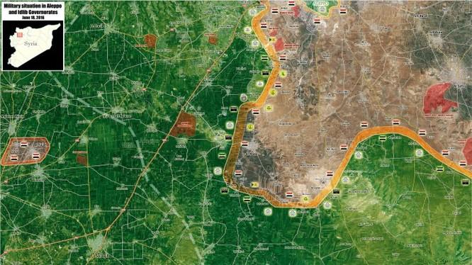 Bản đồ chiến sự Nam Aleppo, Syria