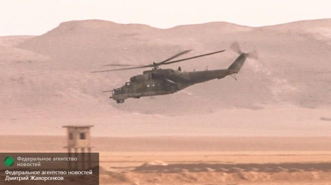 Máy bay trực thăng tấn công Mi-24 Cá sấu bay ở Syria