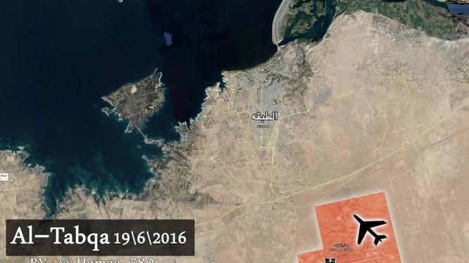Bản đồ chiến sự sân bay Tabqqa