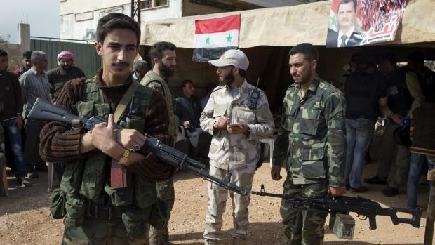 Binh sĩ quân đội Syria ở Deir Ezzor