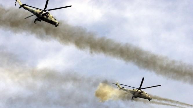 Trực thăng tấn công Mi-28 quân đội Nga tân công