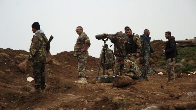 Các binh sĩ Syria ở Deir Ezzor