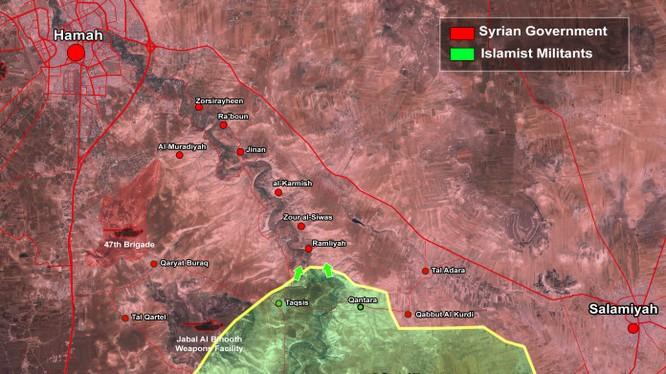 Bản đồ tình hình chiến sự quận Al-Salamiyah