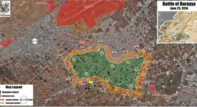 Tình hình chiến sự ở thành phố vệ tinh Darayya