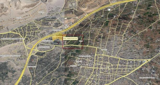 Bản đồ chiến sự thành phố Douma