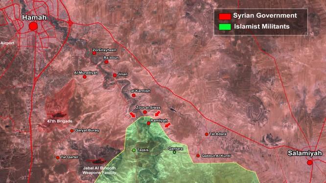 Bản đồ phía Đông tỉnh Hama