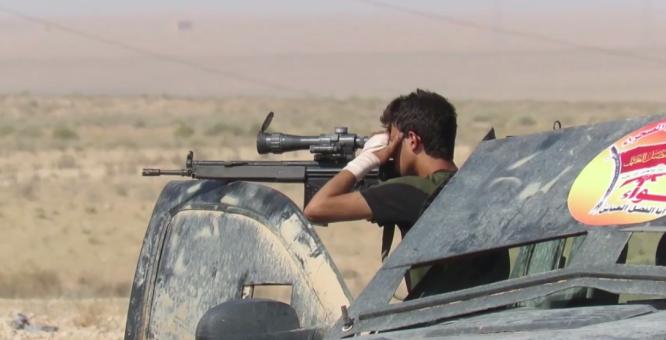 Binh sĩ Syria trong trận chiến Raqqa