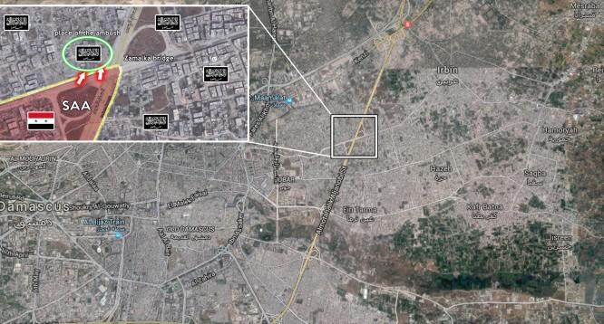 Sơ đồ chiến thuật quân đội Syria chống Al-Nusra