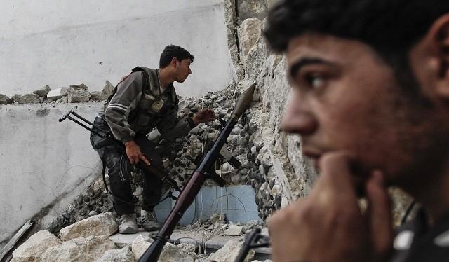 Các tay súng của lực lượng Hồi giáo cực đoan Jaish al-Islam