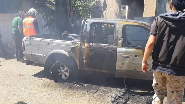 Nhiều xe vận tải của lực lượng Hồi giáo cực đoan ở Idlib bị thiêu hủy
