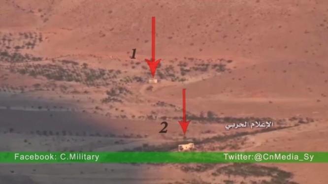 Vị trí hai ngôi nhà bị tên lửa chống tăng ATGM phá hủy