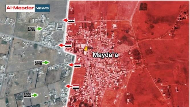 Bản đồ chiến sự Maydaa ngày 05.-7.2016