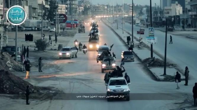 Đoàn xe của tổ chức Hồi giáo cực đoan Al- Nusra