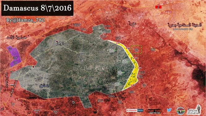 Bản đồ chiến sự chiến trường Đông Ghouta