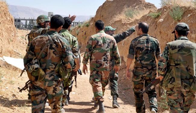 Binh sĩ Syria trên chiến trường biên giới Lebanon - Syria