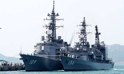 Tàu JS Ariake và tàu JS Setogiri cập Cảng quốc tế Cam Ranh trong chuyến thăm Việt Nam từ ngày 12 - 15.04.2016