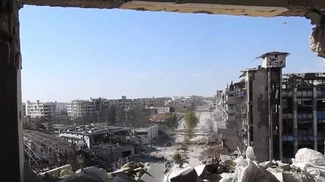 Khung cảnh khu phố Layramoun trong chiến tranh