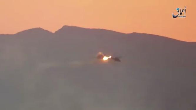 Trực thăng chiến đấu Nga bị tại nạn ở Palmyra