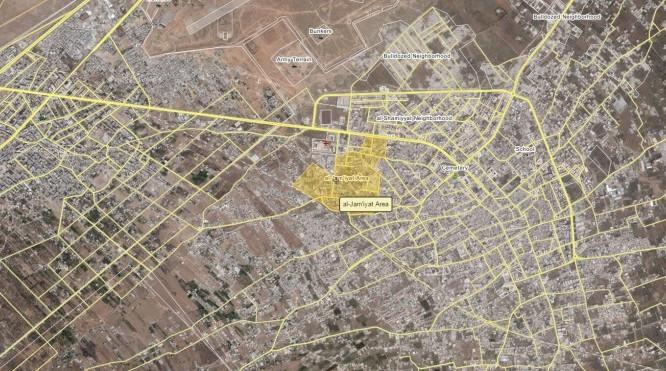 Bản đồ khu vực thành phố Darayya