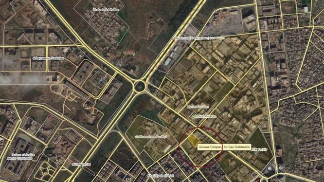 Bản đồ chiến sự nội đô Aleppo