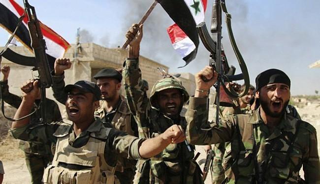 Các binh sĩ quân đội Syria ở Deir Ezzor