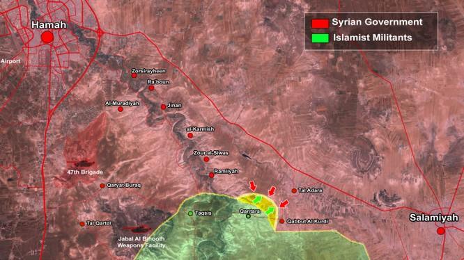 Bản đồ chiến sự khu vực Salamiyah