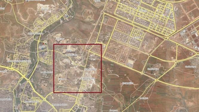 Khu vực lực lượng Hồi giáo cực đoan triển khai tấn công trên chiến trường Aleppo