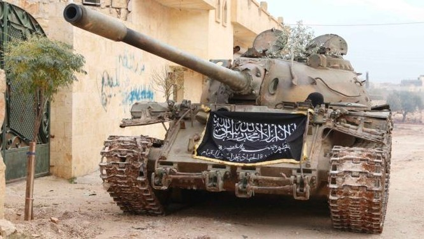 Xe tăng T-55 của lực lượng Jabhat Al-Nusra