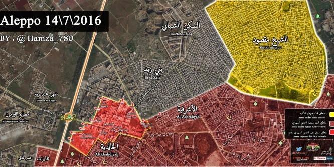 Bản đồ chiến sự khu vực Al-Layramoun thành phố Aleppo