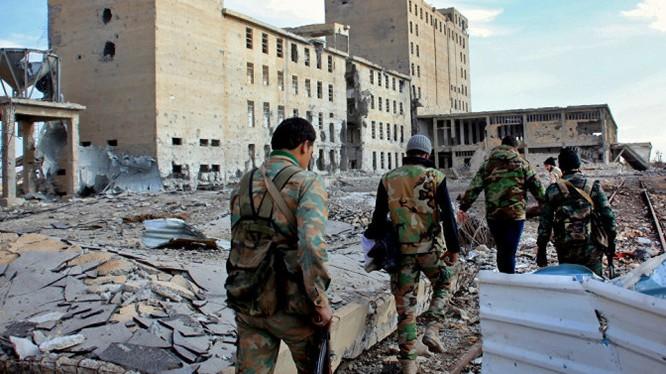 Quân đội Syria chiến đấu trên nội thị thành phố Aleppo