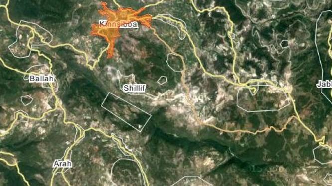 Bản đồ chiến sự Kinsaba, Bắc Latakia