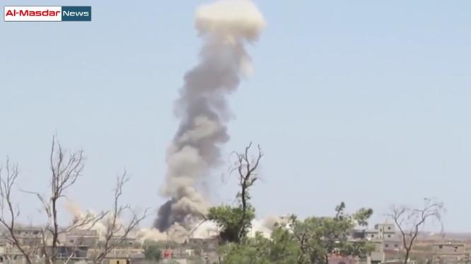 Không quân Syria không kích ác liệt thị trấn Bosra al-Sham