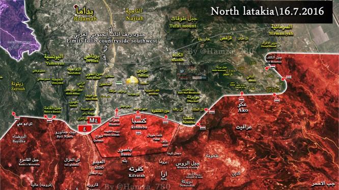 Bản đồ Kinsaba Bắc Latakia