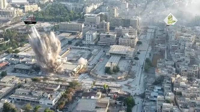 Vụ tấn công khủng bố bằng bom đường hầm ở Aleppo