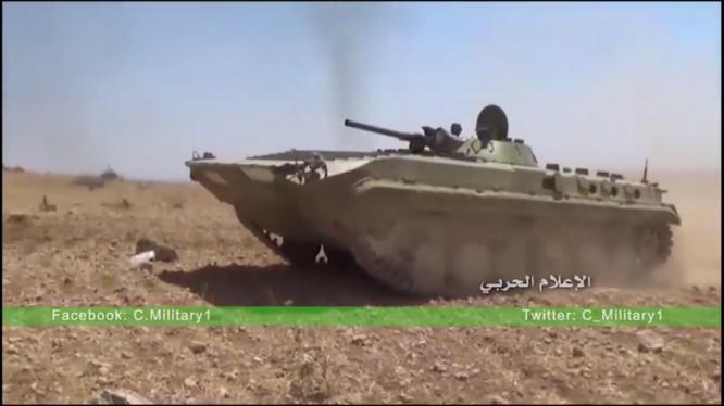 Xe bô binh chiến đấu BMP quân đội Syria trên chiến trường Đông Hama