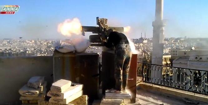 Binh sĩ Syria sử dụng súng chống tăng ATGM trên chiến trường Aleppo