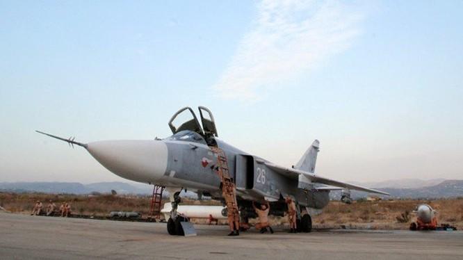 Máy bay ném bom Su - 24 từng làm nhiệm vụ chiến đấu ở Syria trong lực lượng không quân viễn chinh Nga