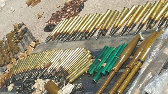 Các loại vũ khí do quân đội Syria thu giữ