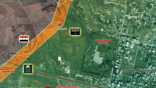 Bản đồ khu vực sinh sống của người Kurd ở thành phố Aleppo