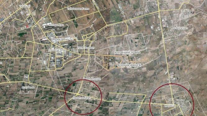 Bản đồ khu vực thị trấn Hawsh Al-Farah
