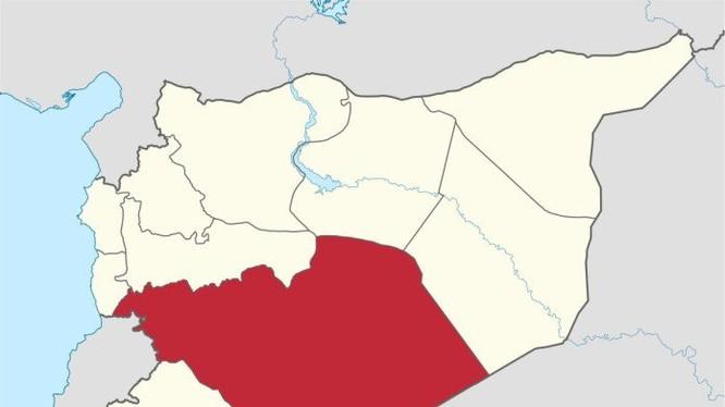 Phân bổ địa bàn kiểm soát của quân đội Syria và IS trên tỉnh Homs, Syria