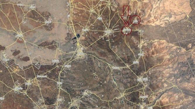 Bản đồ địa điểm cao điểm Aliyat thuộc tỉnh Sweida